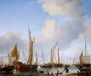 Willem Van De Velde The Younger Poster Or Canvas Print States Yacht Under Sail