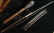 Authentic Antique Handmade Bow And Arrow Set With Quiver - Bhutanese Un Estate.