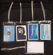 Luggage Tag Alaska Airlines W/playing Card Choose From Multiple Designs