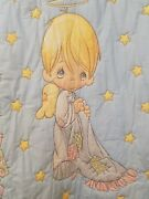 Precious Moments Angel Stars Hearts Baby Kids Quilted Handmade Blanket Quilt