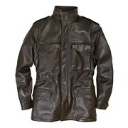 Cockpit Usa Leather M-65 Field Jacket Brown Usa Made Z21s024