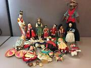 Lot Of 16 Dolls Around The World Mexico Finland China India Africa And More
