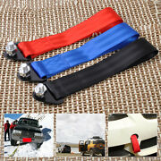 Universal 10,000 Lb Racing Tow Towing Strap Bumper Hook Trailer For Almost Cars