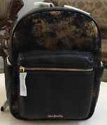 Vera Bradley Leather Leighton Backpack In Bronze Age