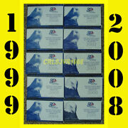 10 United States Us Mint 50 State Quarters Proof Sets 1999-2008 With Coaand039s