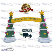 13x13ft Inflatable Trees Merry Christmas Holiday Archway With Air Blower
