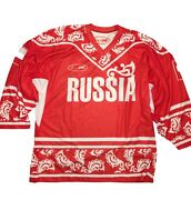 Bosco Sochi 2014 Russia Hockey Jersey Olympic Games T-shirt Official Red Rare