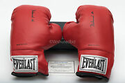 Two 2 Muhammad Ali Autographed Everlast Boxing Gloves With Coa In Case