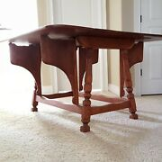 Cushman Colonial Butterfly Drop Leaf Solid Maple Table. Rare Unique Great Color
