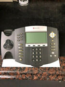 Lot Of 5 Polycom Soundpoint Ip 650 Sip Voip Phones W/standhandset And P/s