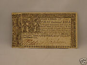 Fine 242 Year Old Colonial Currency Note 8 April 10, 1774 - Maryland