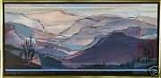 Mary Ann Ginter Americanb.1928 Orig. Acrylic Painting Grand Canyon Viewpoint