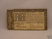 Fine 246 Yr Old Colonial Currency Note 8 March 1, 1770 - Maryland