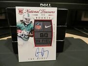 National Treasures Rookie Autograph Laundry Tag Dolphins Jay Ajayi 3/3 2015
