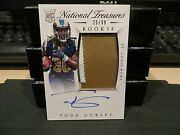 National Treasures Rookie Autograph Jersey Rams Todd Gurley 25/99 2015