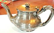 Antique Ornate 1847 Rogers Smith And Co 02830 Silver Soldered 31 Teapot/creamer