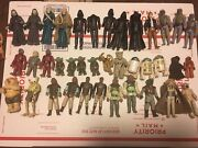 Star Wars Vintage Action Figure Lot From 1977-1985 Over 100 Figures Kenner Yoda