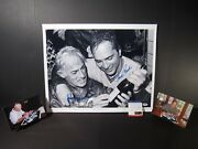 Johnny Bench Sparky Anderson Signed Autographed Bandw 16x20 75 Wsc Fuji Photo Psa