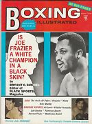 Boxing Illustrated Mag Joe Frazier-rocky Graziano-clemente Sanchez October 1972