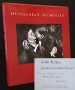 Andre Kertesz / Hungarian Memories Signed 1st Edition 1982