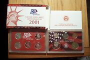 2001 S 10 Coin Die Clash Error Set Silver Proof Set With Statehood Quarters 011