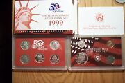 1999 S Error 9 Coin Silver Proof Set With Coa And Box Die Clash Error 01