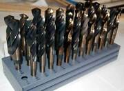 Drill America 33/64-1x64ths M42-8 Cobalt S And D Drill Set W/huot Stand