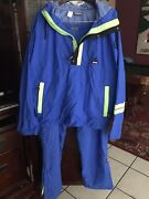 Vintage Hind Jacket Pants Bicycle Rain Wind Proof Cycling Gear Mens Size L Xl