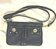 Marc By Marc Jacobs Totally Turnlock Percy Crossbody Bag Black Leather Pre-owned
