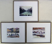 Group Of Seven Print Lawren Harris F. Carmichael And A. J. Casson In Gold Frames