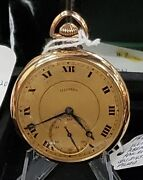 Illinois-a Lincoln Open Face Pocket Watch-21 Jewels-c1917