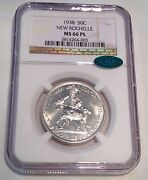 1938 New Rochelle Commemorative Ngc Cac Ms66 Pl