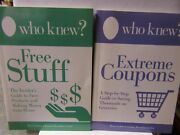 Lot Of 2who Knew Extreme Coupons And Free Stuff Bruce And Jeanne Lubin