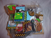 Melissa And Doug Wooden Cube Puzzle 6 Farm Animals Sturdy Learning 8x8 Toy