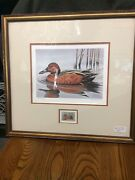1986 Migratory Bird Hunting/conservation Cinnamon Teal Gerald Mobley Signed