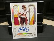 Panini Flawless Gold On Card Autograph Jersey Redskins John Riggins 09/10 2015
