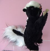 Cute Vintage 1969 Steiff Cosy Begging Skunk 4920/22 With Button In Ear