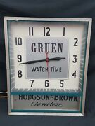 Vintage Tall Gruen Watch Time Hodgson And Brown Jewelers Electric Wall Clock