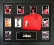 Framed Kell Brook Signed Lonsdale Boxing Glove With Coa And Proof World Champion