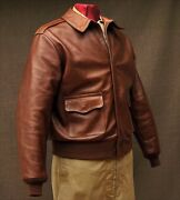 Eastman A-2 Leather Flight Jacket Rough Wear 42-1401-p Wwii Reproduction Size 42