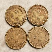 1960 1961 1963 And 1965 Hong Kong 10 Cent Coins 4 Pieces