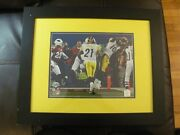 Santonio Holmes Super Bowl Xliii Td Catch Steelers Framed 14x11 Poster Photo