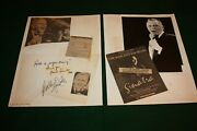 Frank Sinatra And Buddy Rich Signed Autograph Scrapbook Page Usf Sun Dome Jan 1984