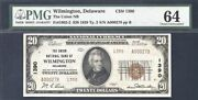 1929 20 The Union Nb Wilmington Delaware Type 2 Pmg 64 Ch1390