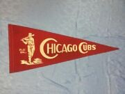 Extremely Rare 1940and039s Chicago Cubs Ohio State Cross Pennant