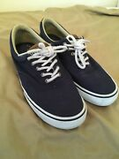 Sperry Nautical Canvas Boat Shoes - Menand039s Size 8.5 Navy