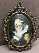 Vintage Small Ornate Brass Metal Frame From Italy 5x7