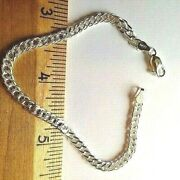 Rombo 4 Mm -7.7 Mm Sterling Silver Chain And Bracelets -.925 Pure Silver