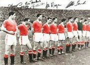 Busby Babes Signed By 5 Manchester United 1958 Last Lineup Photo Charlton Proof