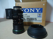 Sony Vcl-712bxs 1/2 Bayonet Mount Motorized Lens For 3ccd Cameras